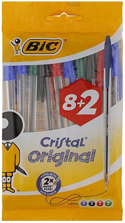 BIC Cristal Original bolígrafos punta media (1,0 mm) – colores Surtidos
