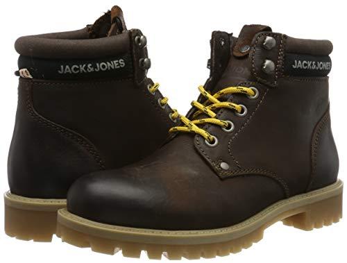 TALLA 46 - Jack & Jones Jfwstatton Leather Coffee Bean, Botas Clasicas para Hombre