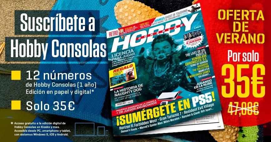Suscripción anual a Hobby Consolas (papel + digital) por 35€ [revista de videojuegos multiplataforma]