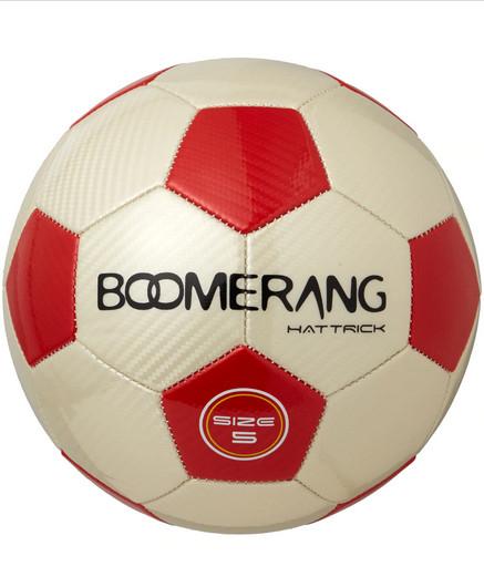 Balón Boomerang Hat-Trick (talla 5) en color rojo/blanco o negro/amarillo por sólo 2,45€