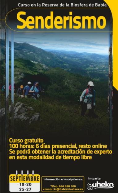 Curso gratuito de senderismo en León (reserva de Bábia)