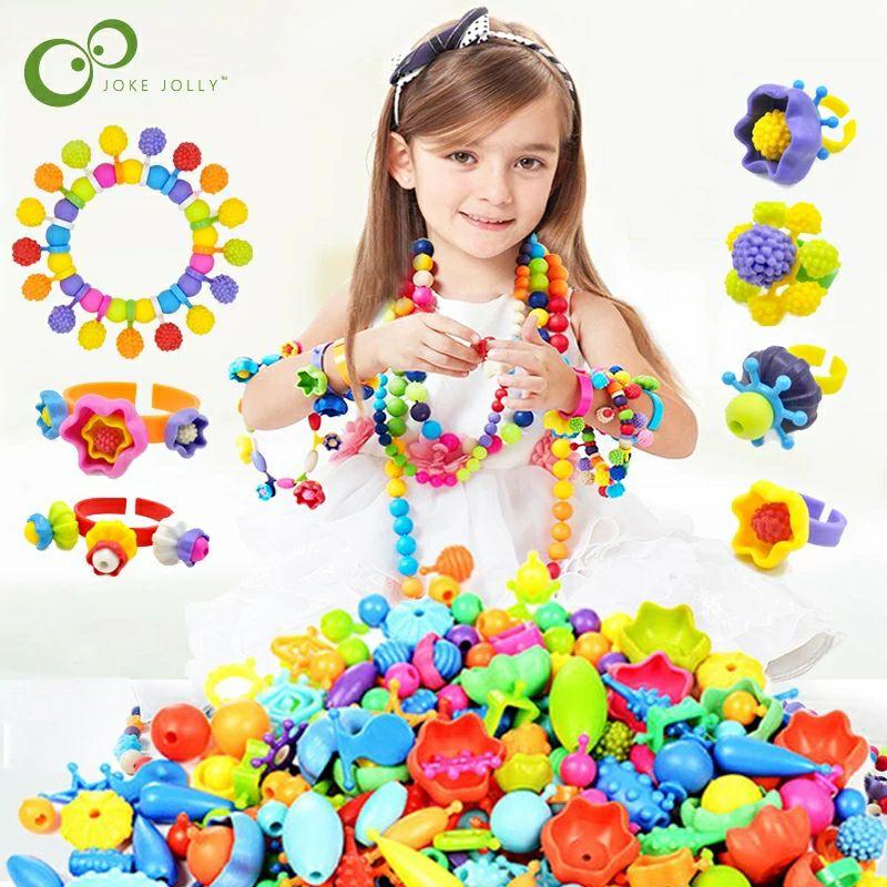 100 Uds. Pop Beads Bead Snap DIY colorido Kit de joyería