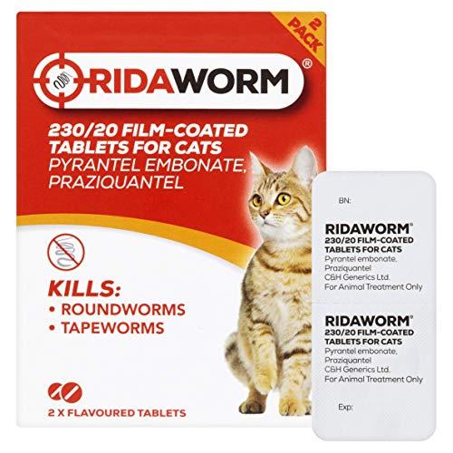 Ridaworm 2 Pastillas desparasitarias para gato, con sabor