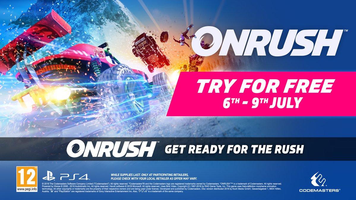 Prueba ONRUSH GRATIS este fin de semana en PS4