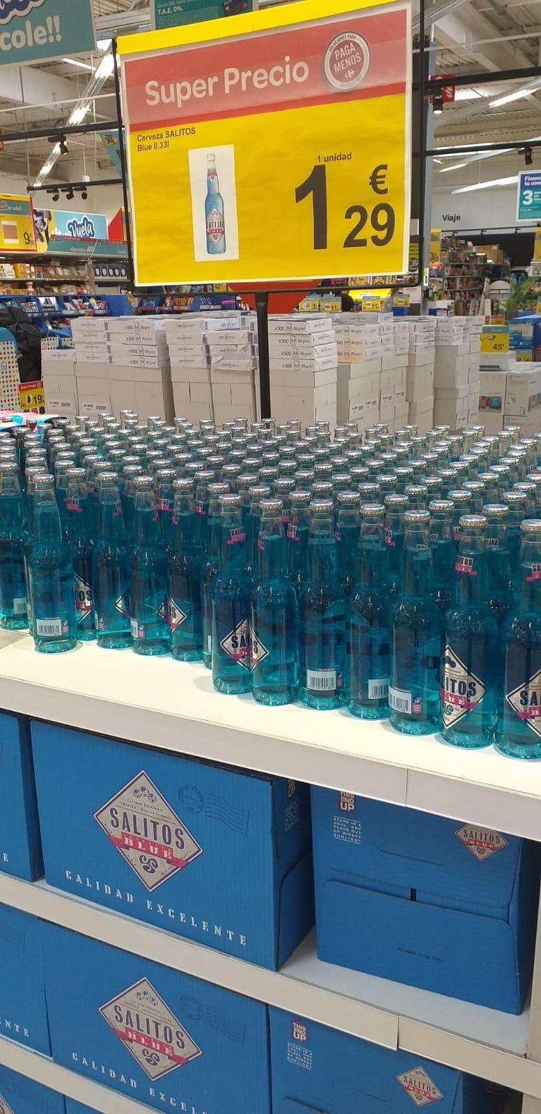 Salitos blue, nueva bebida de moda ahora tambien en Carrefour