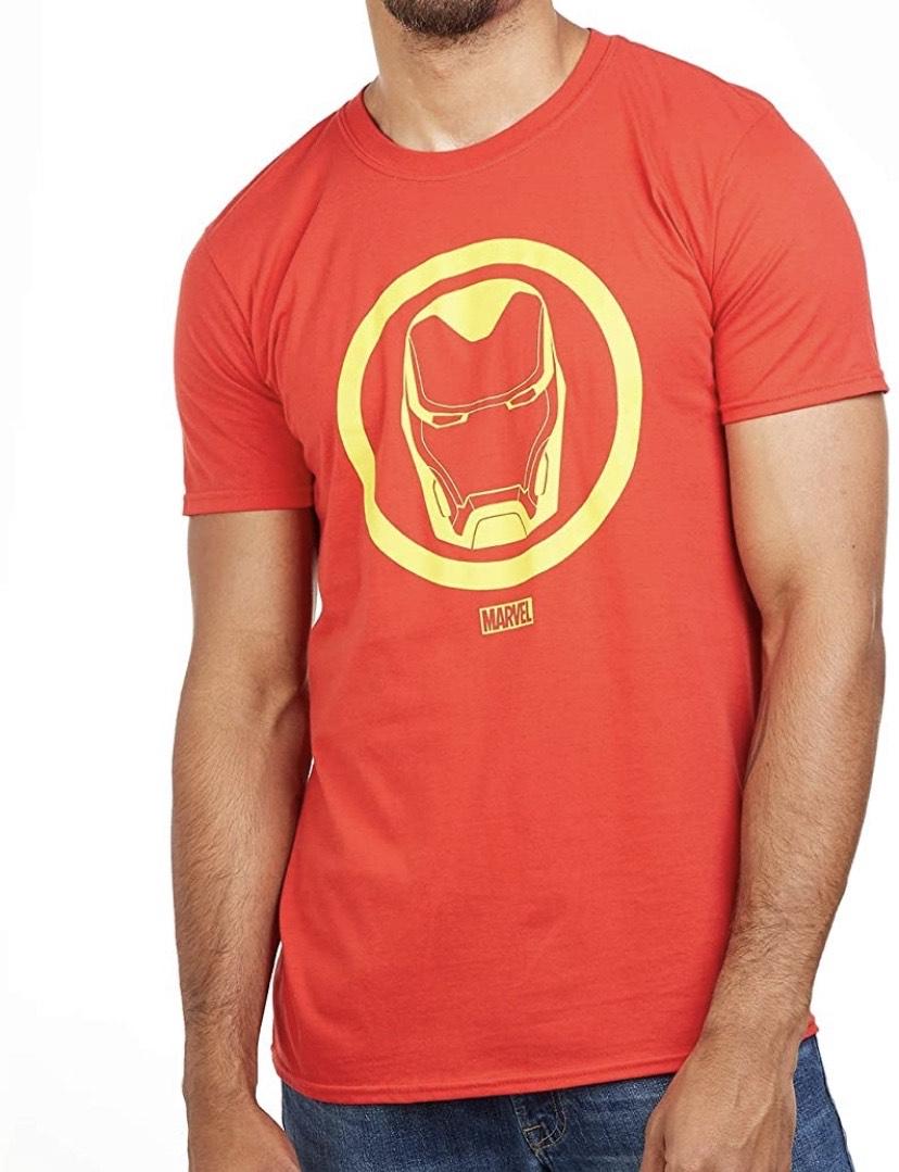 Talla M camiseta Marvel Iron Man Emblem-Mens
