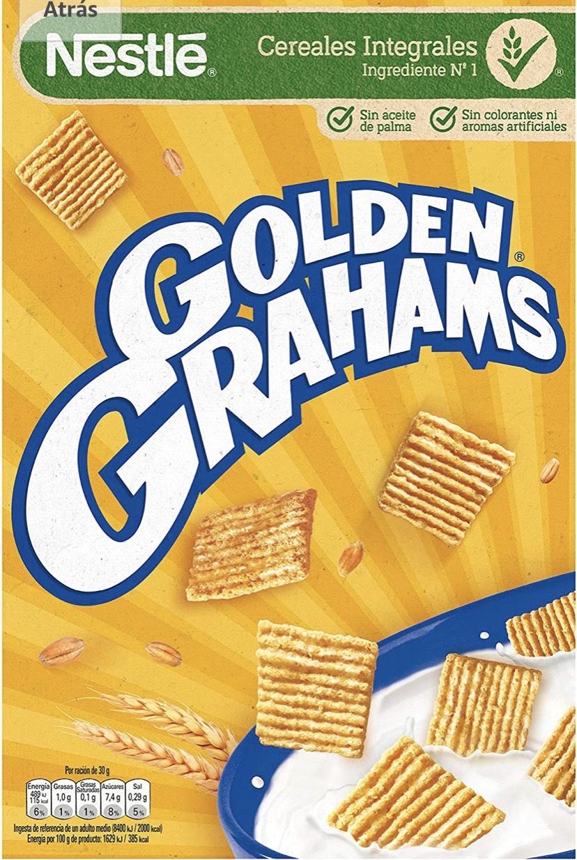 Nestlé Golden Grahams - Cereales de maíz y trigo tostados - 12 paquetes de cereales de 420g