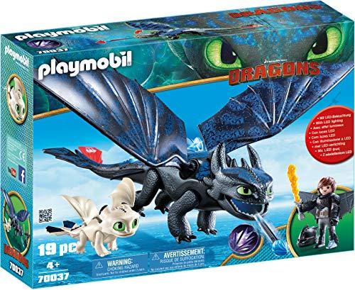 PLAYMOBIL DreamWorks Dragons Hipo y Desdentao con Bebé Dragón