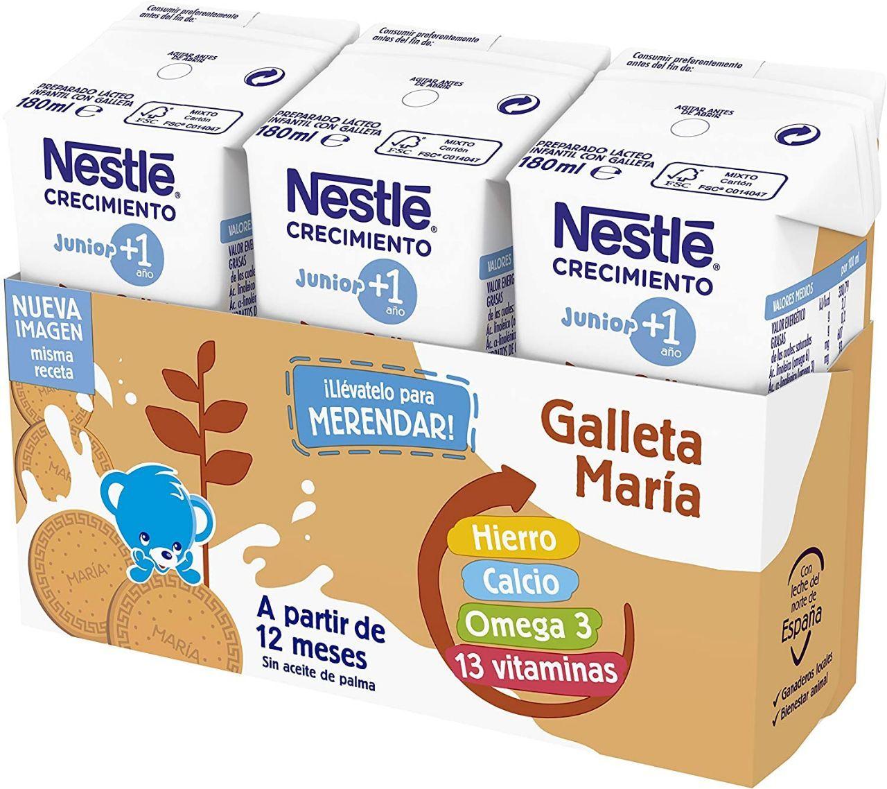 Pack de 24x180ml de leche de crecimiento por solo 4,45€