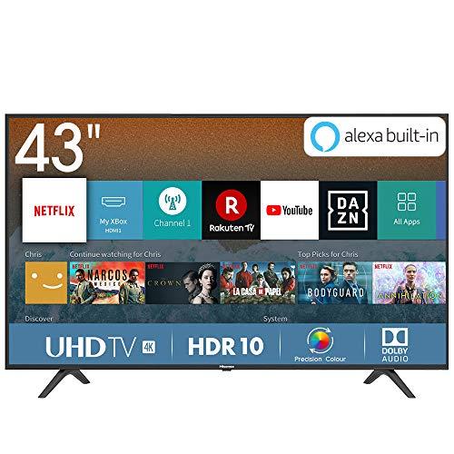 *Mínimo* Hisense, Smart TV 4K Ultra HDWifi, HDR, Dolby DTS, Procesador Quad Core, VIDAA U 3.0 con IA [Clase de eficiencia energética A+]