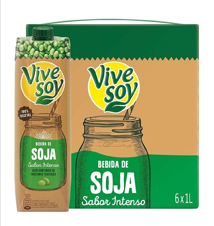 Vivesoy - Bebida de Soja sabor Intenso - Paquete de 6 x 1000 ml - Total: 6 L (Al tramitar)