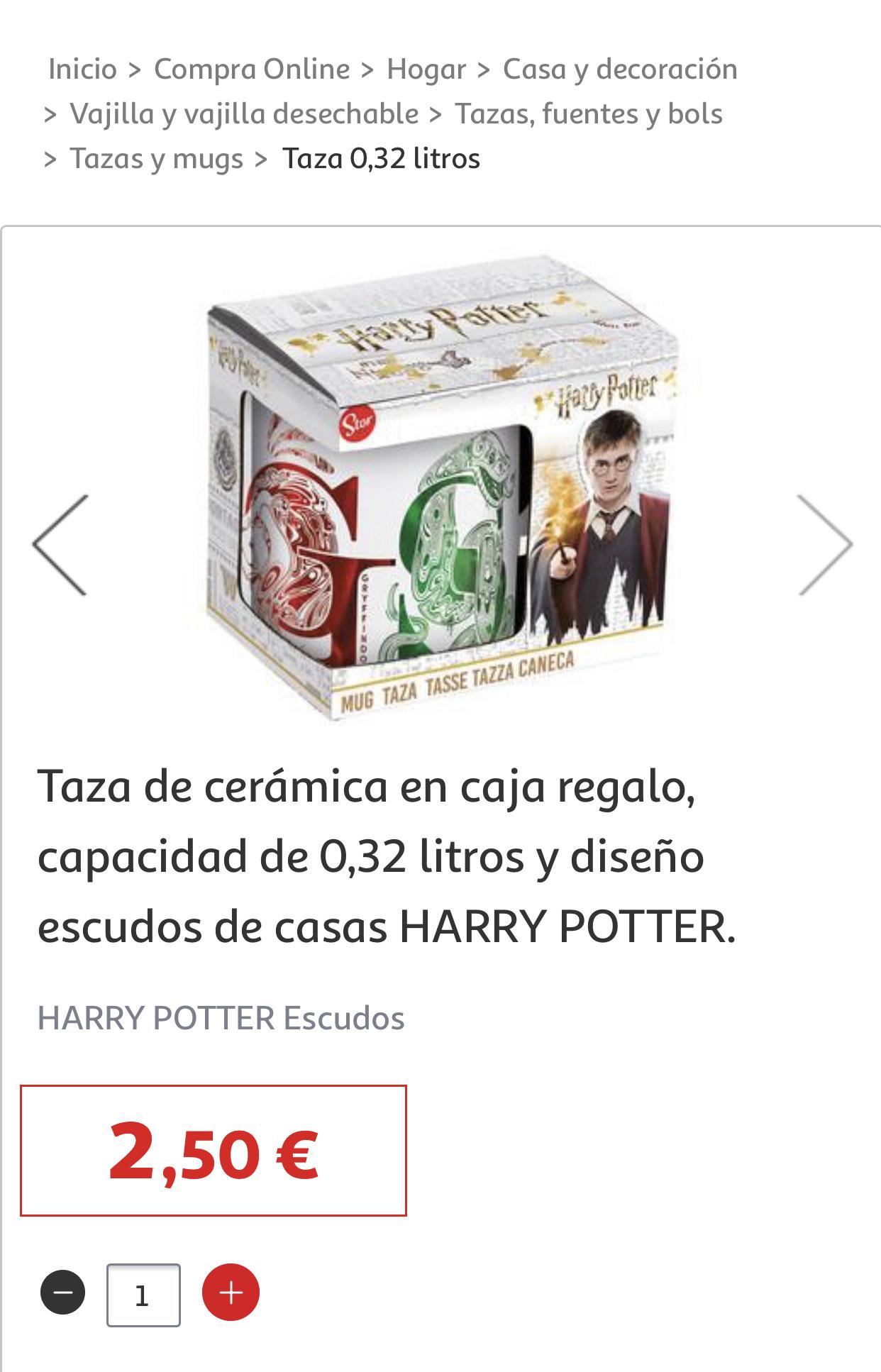 Taza Harry Potter. Alcampo Colmenar Viejo