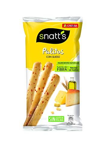 Grefusa - Snatt's | Palitos de Cereales con Queso - 56 gr (Precio al tramitar)