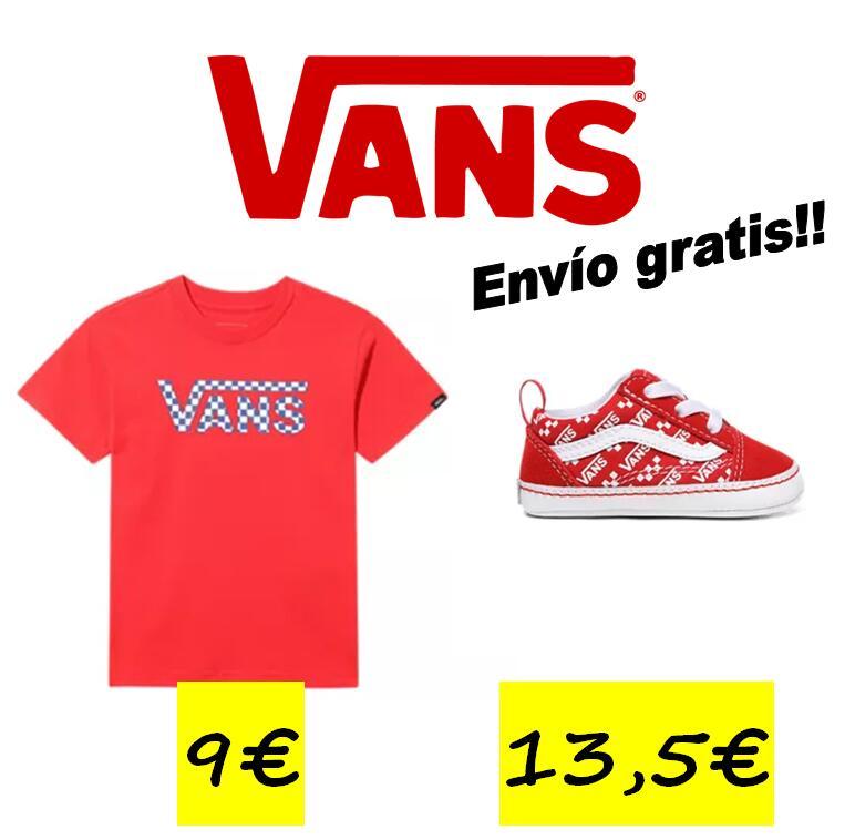 Zapas VANS de bebe (tallas 17,18,19) 13,50€ y camisetas VANS niño/a 9€, envío incluido