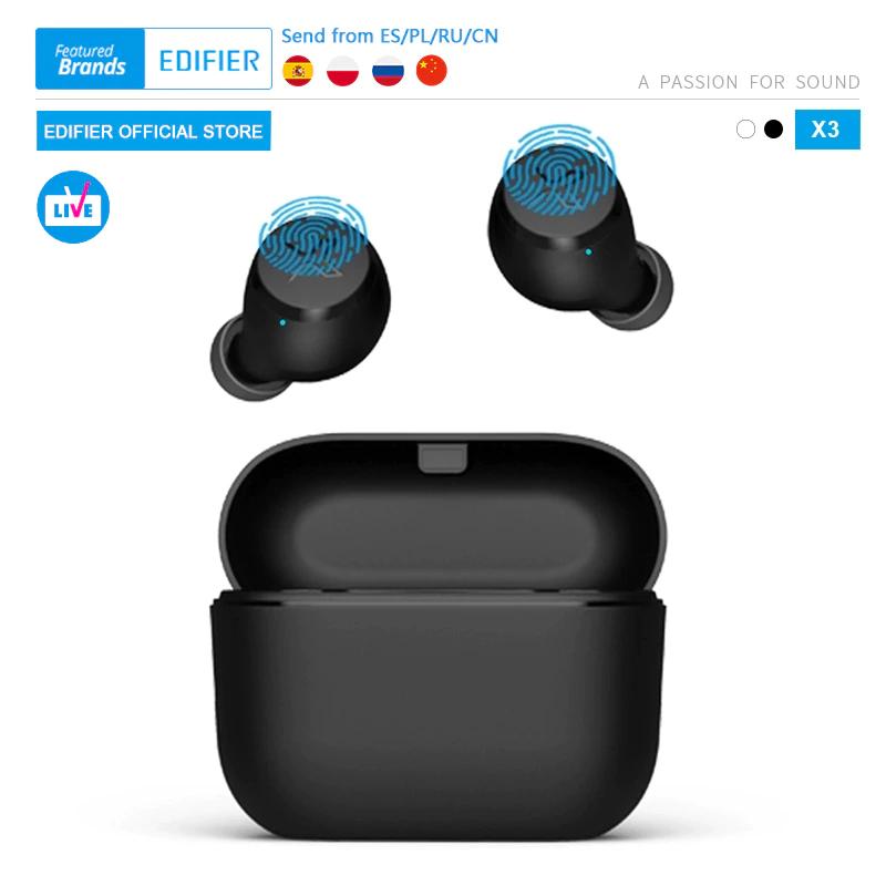 Auricular Bluetooth inalámbrico EDIFIER X3 TWS, asistente de voz BT 5,0 - DESDE ESPAÑA