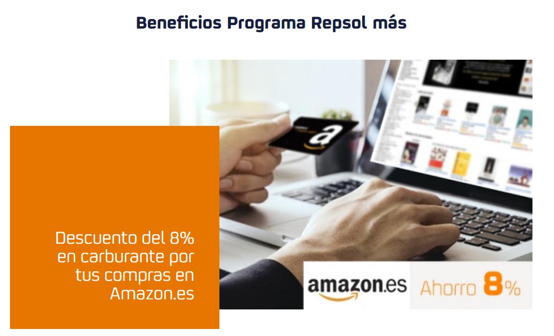 Descuento de 8€ en Repsol comprando en Amazon