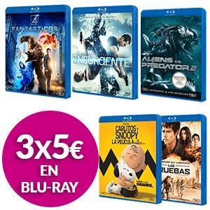 3X Películas en Blu-Ray a elegir entre varios títulos