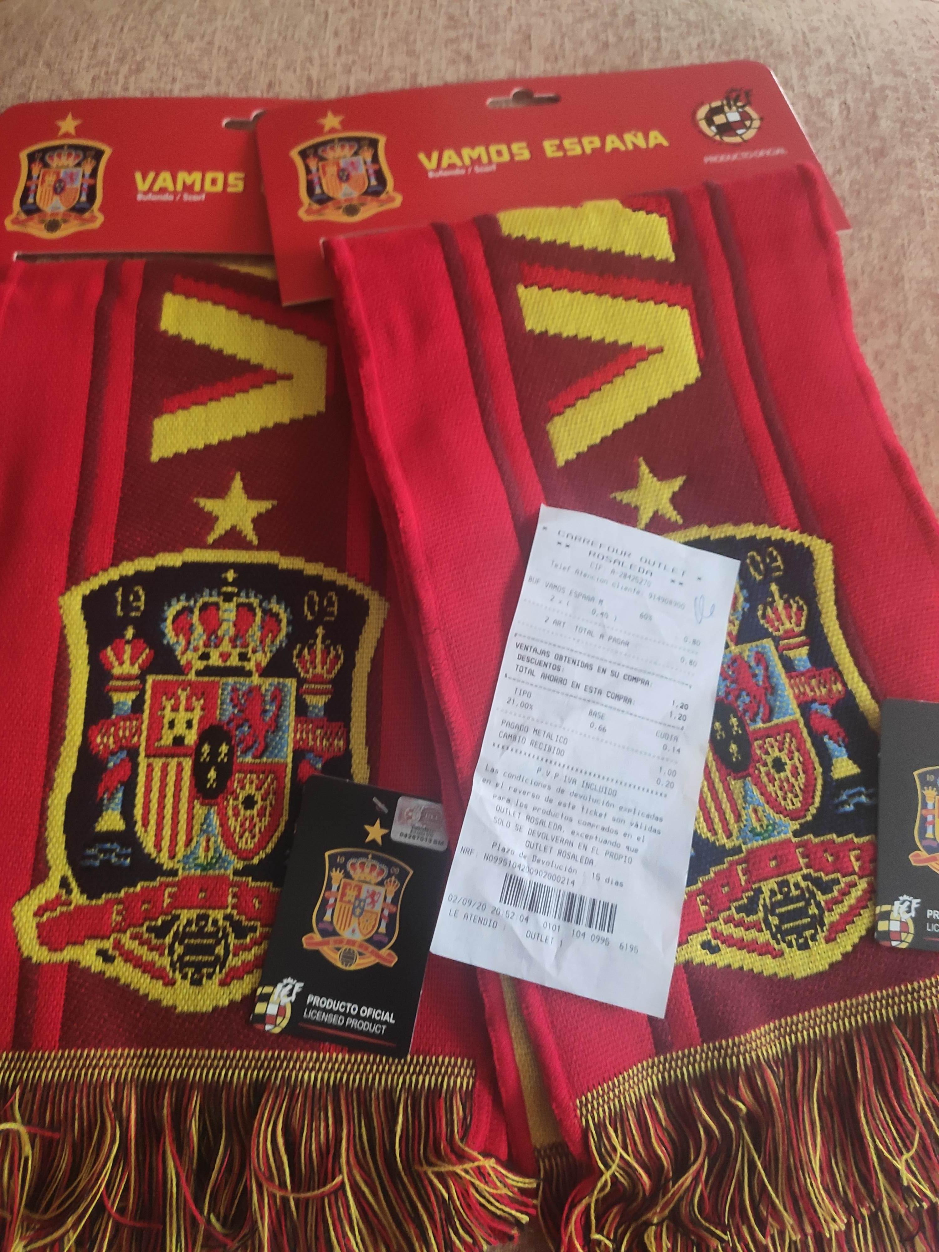 Bufanda selección española 0,40€