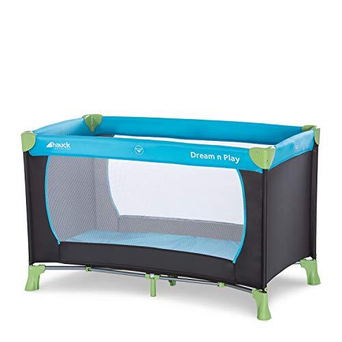 Hauck Dream N Play - Cuna de viaje (bebe) 3 piezas 120 x 60 cm, incluido colchóncito, plegable y bolsa de transporte