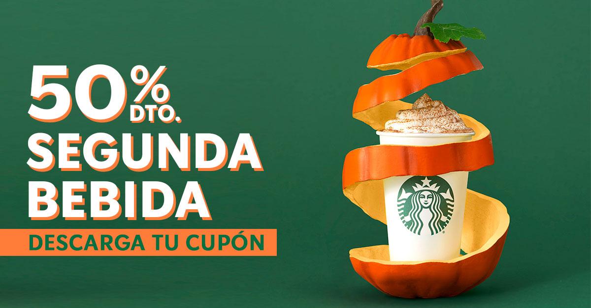 50% en tu segunda bebida Starbucks