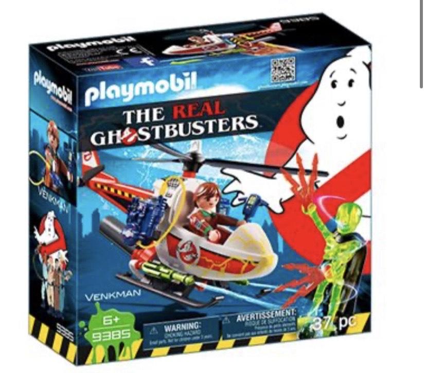 Playmobil Cazafantasmas Venkman con helicóptero