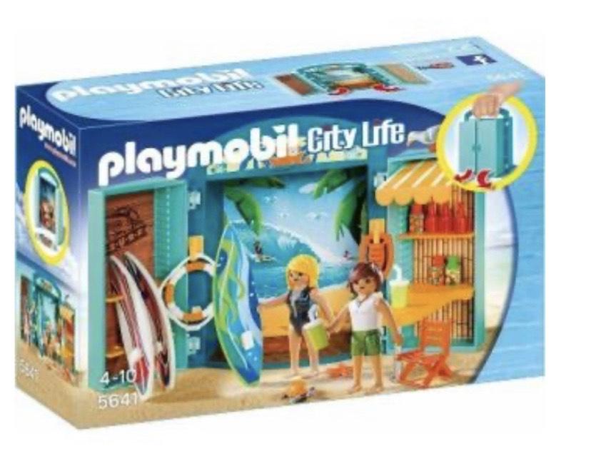 Playmobil Cofre tienda surf maletín