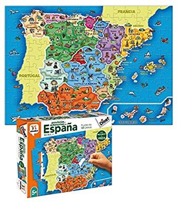Diset- Puzzle Provincias-Autonomías137p Juguete educativos Provincias De España