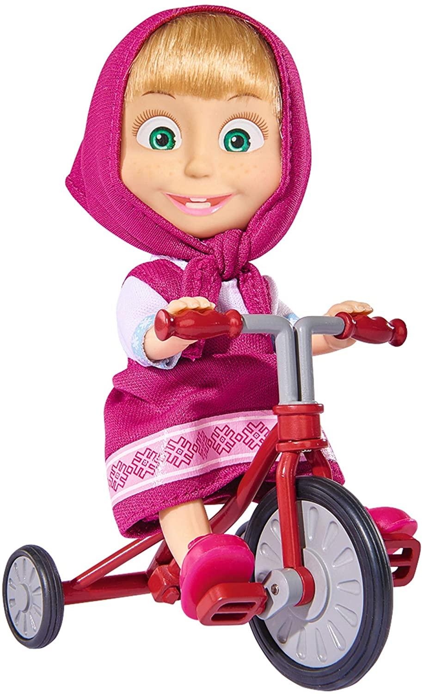 Muñeca Masha de 12cm de Masha y el Oso con triciclo
