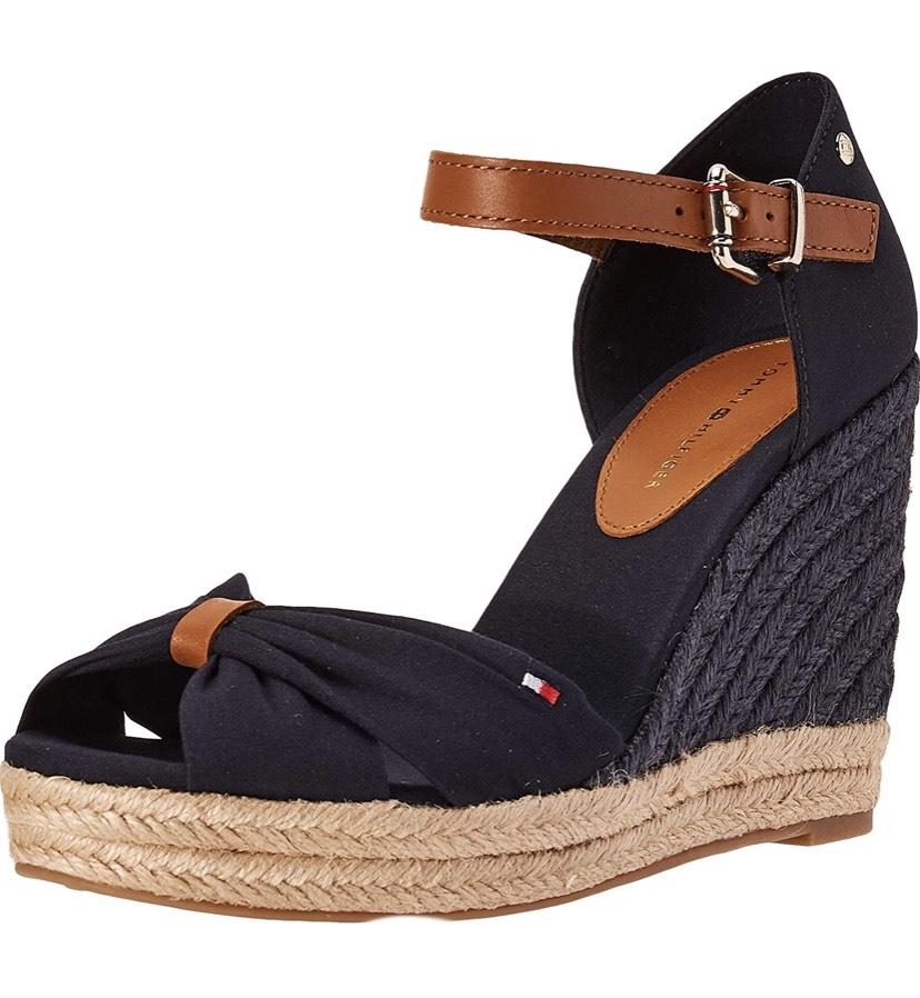 Talla 40 sandalia Tommy Hilfiger Basic Opened Toe High Wedge,