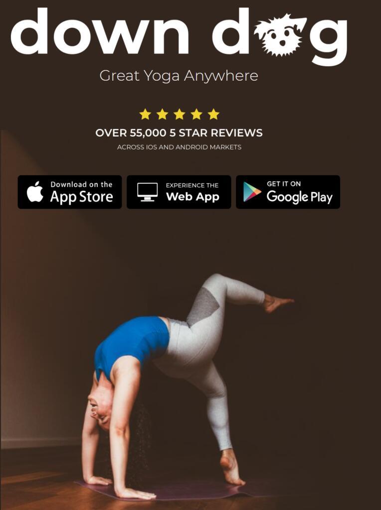 Down Dog - App de yoga GRATIS hasta enero (Estudiantes y Profesores)