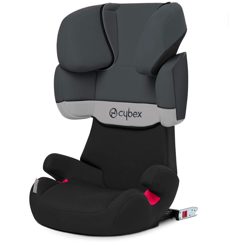 Cybex Solution X-Fix - Silla de coche grupo 2/3, para coches con ISOFIX, 15-36kg gris-negro
