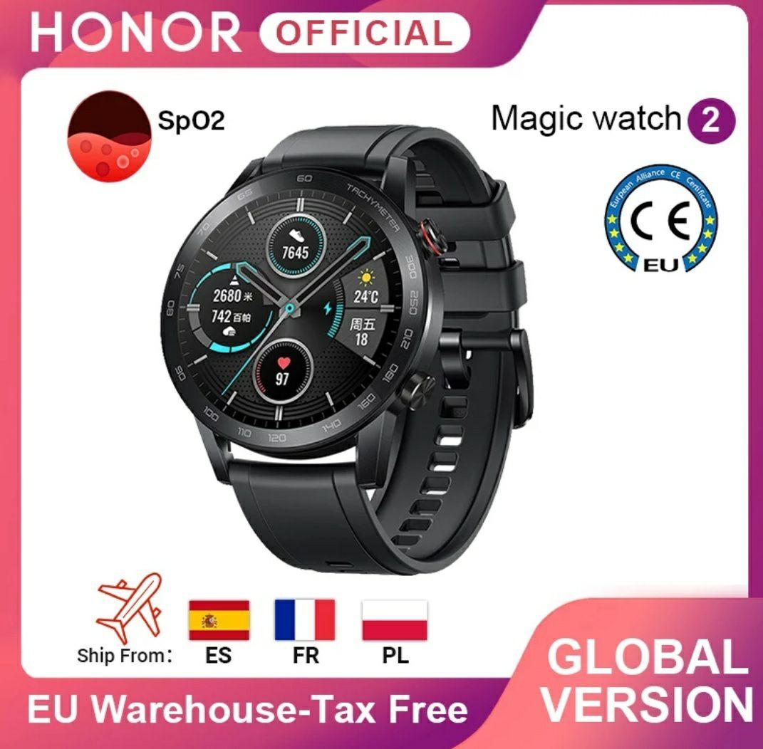 Huawei Magic 2Bluetooth 5.1, sensor frecuencia cardíaca, monitor del sueño, GPS, alarma, notificaciones, llamadas y alarma.