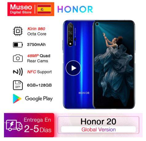 Huawei Honor 20. Desde España. Con servicios de Google. Gama alta a precio de gama media