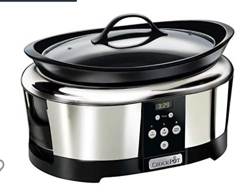 Crock-Pot Olla de cocción lenta digital para preparar multitud de recetas 5.7 litros