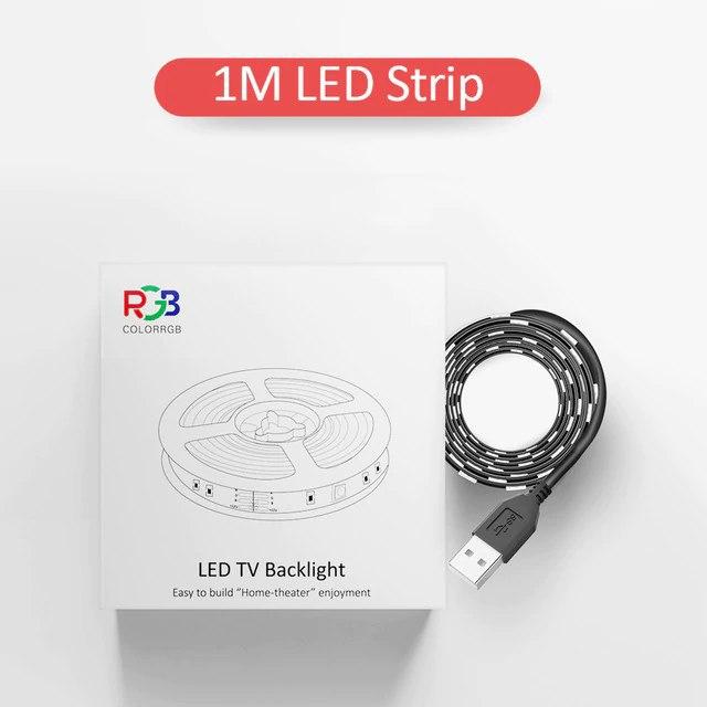 Tira led RGB USB de 1 metro para TV