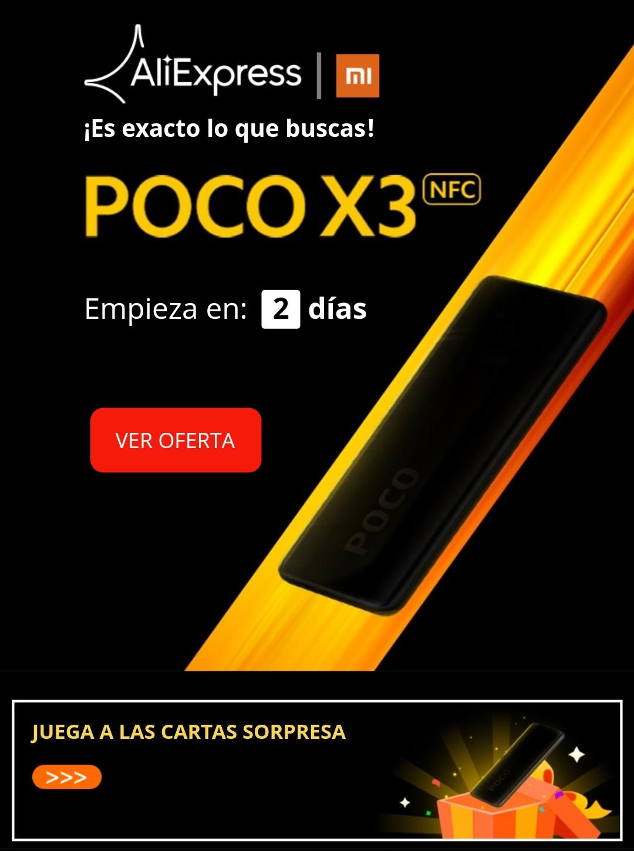CUPONES POCO X3 NFC