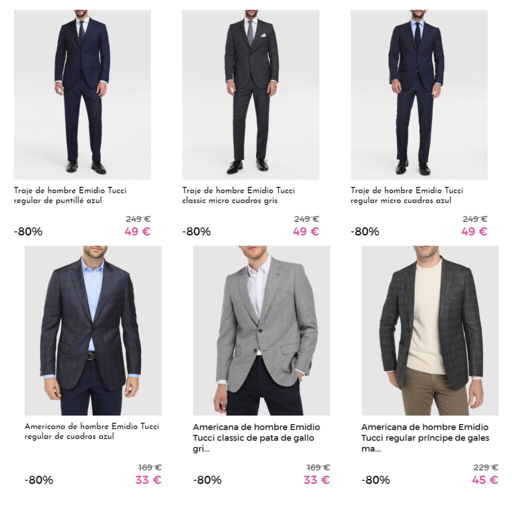 Ofertas Emidio Tucci en Primeriti (Trajes Desde 49€, Chaquetas y Plumiferos Desde 19€, Americanas Desde 33€, Camisas Desde 7€.......)