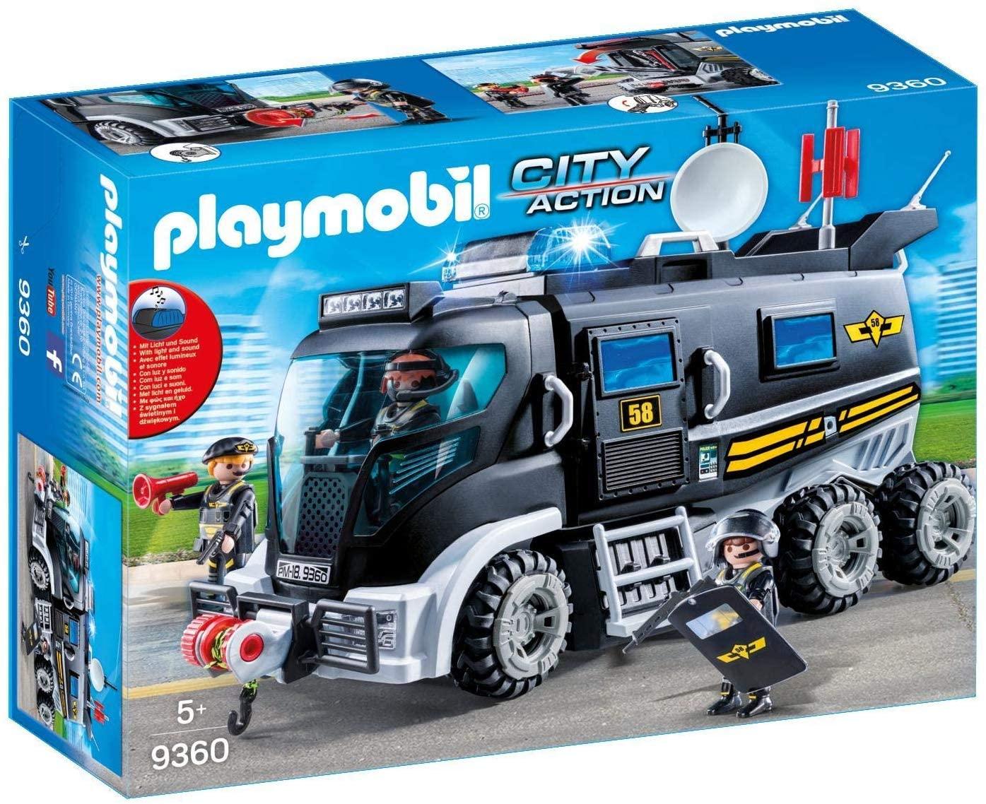PLAYMOBIL City Action Vehículo asalto con luz LED y Módulo de Sonido