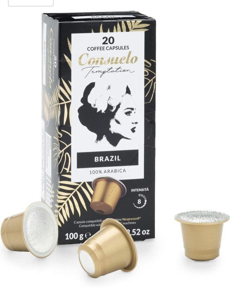 200 cápsulas Consuelo por 20,23€ (0,10€ por cápsula)