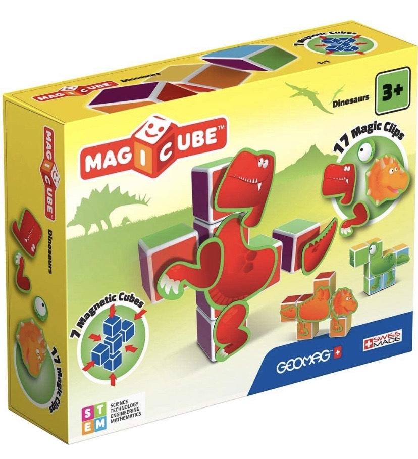 Geomag- Magicube Juguete de construcción, Multicolor, 24 Piezas