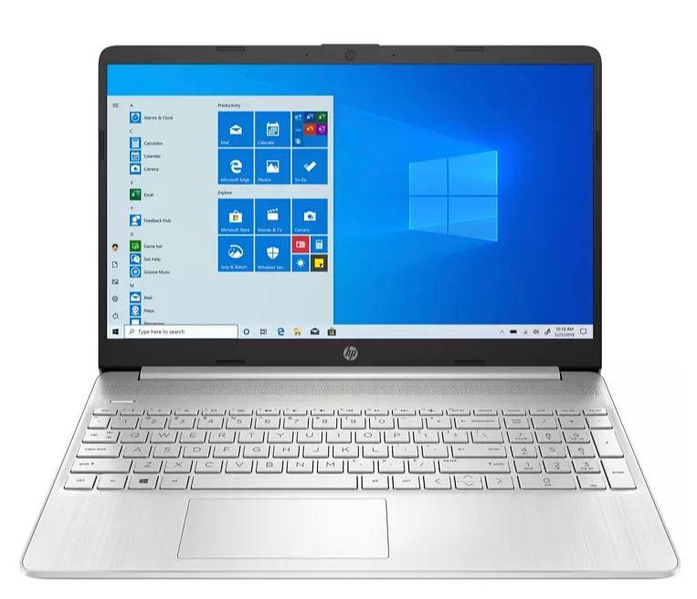"""Portátil - HP 15s-fq1119ns, 15.6"""" HD, Intel® Core™ i3-1005G1, 8 GB, 256 GB SSD, UHD, Windows 10S, Plata"""