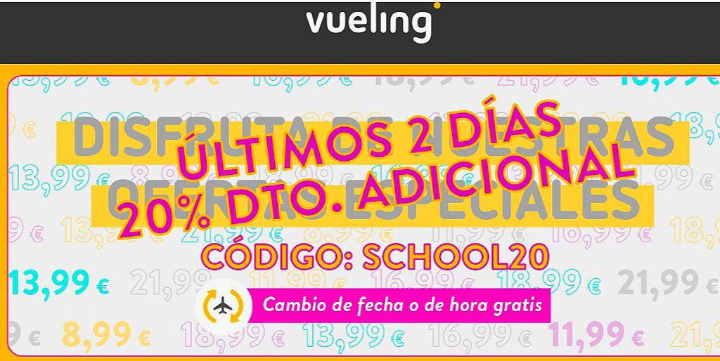 -20% en tus viajes con Vueling