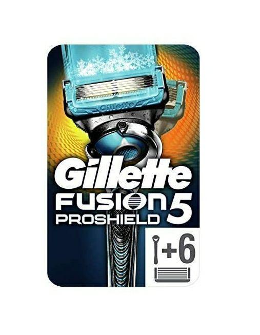 Gillette Fusion5 ProShield Chill - Maquinilla de Afeitar con 6 Cuchillas de Afeitar. Compra recurrente