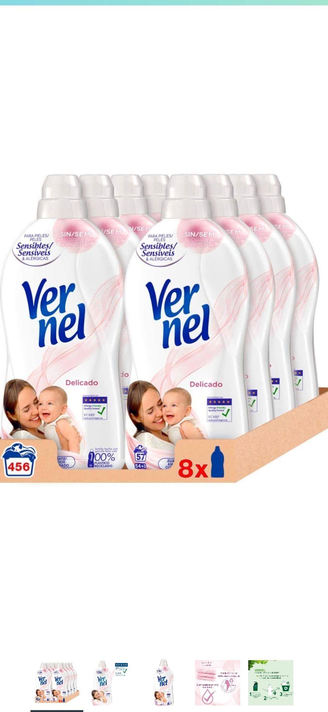 Vernel Suavizante Delicado - Pack de 8 x 1133, Total: 10488 gr