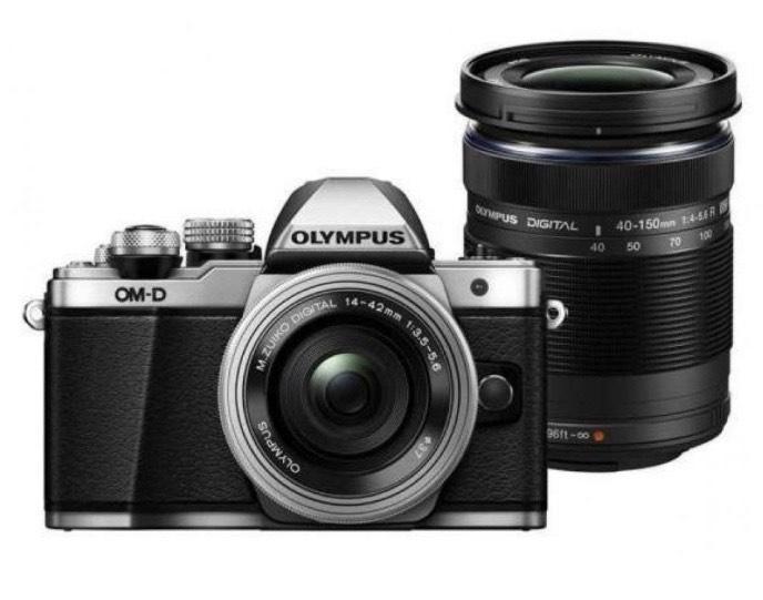 Olympus OM-D E-M10 Mark III plata + 14-42 + 40-150