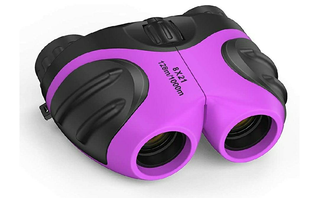 DMbaby Binoculares para Niñ@s - Impermeable. Color púrpura