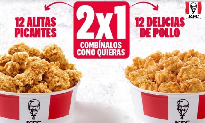 KFC: 2x1 en Chick & Share (2 cubos por 9,99€)