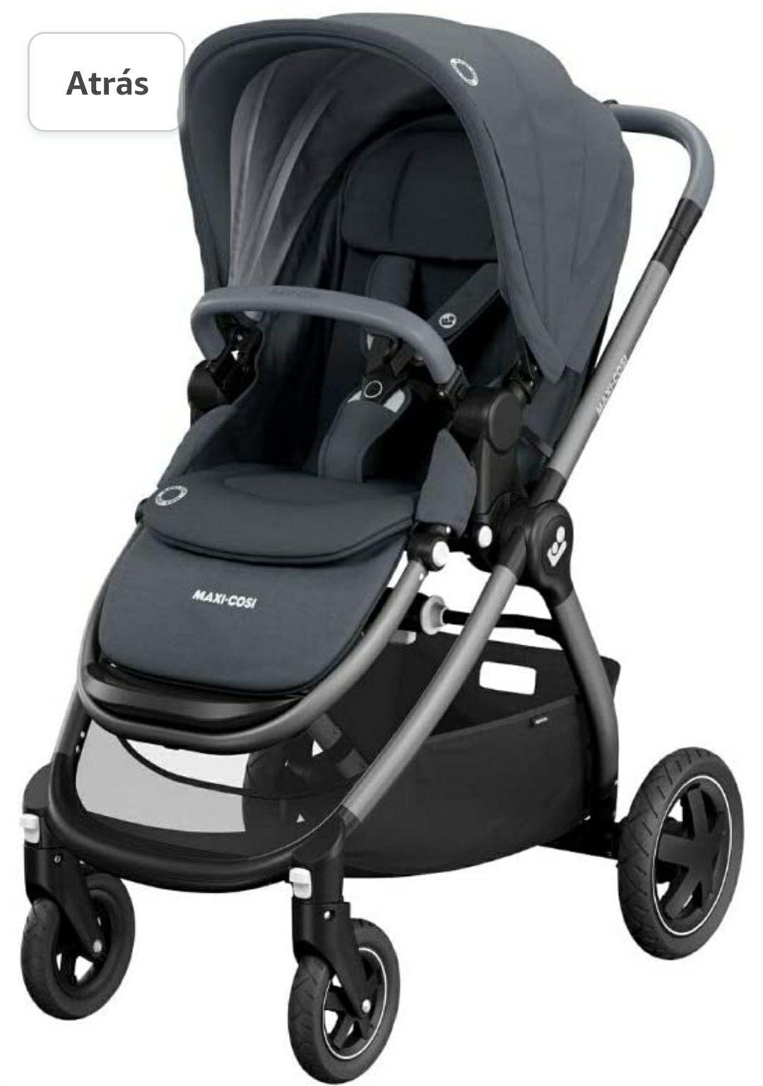 Maxi-Cosi Adorra Carrito bebé recién nacido hasta 3.5 años, cochecito plegable y reclinable color essential graphite