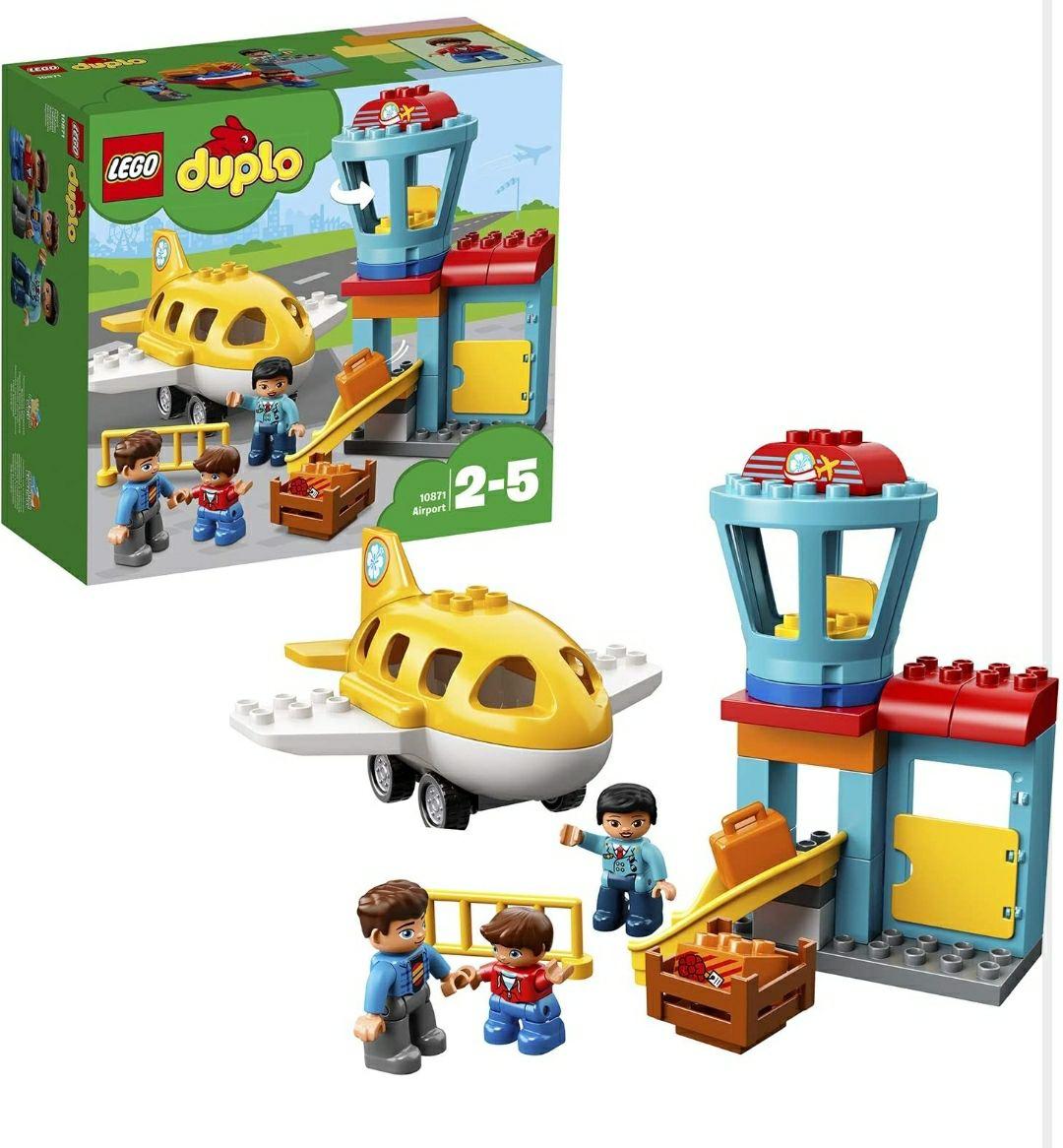 LEGO DUPLO - Town Aeropuerto, Juguete de Construcción con Avión y Torre de Control