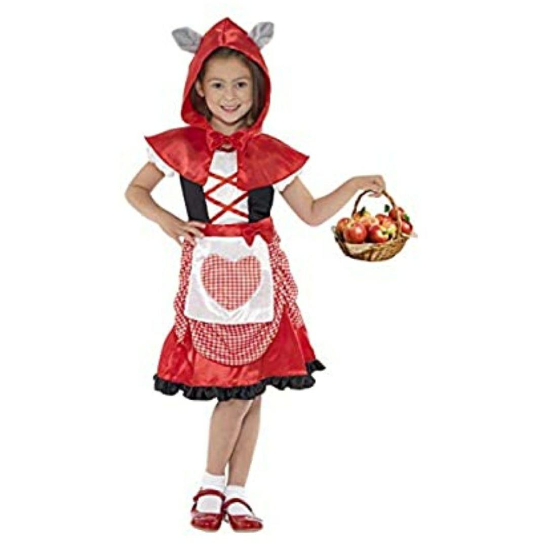 Smiffy's-41100L Miffy Disfraz de Miss Caperuza, con Vestido y Capa con Capucha con Orejas de Lobo acopladas. Edad 10-12